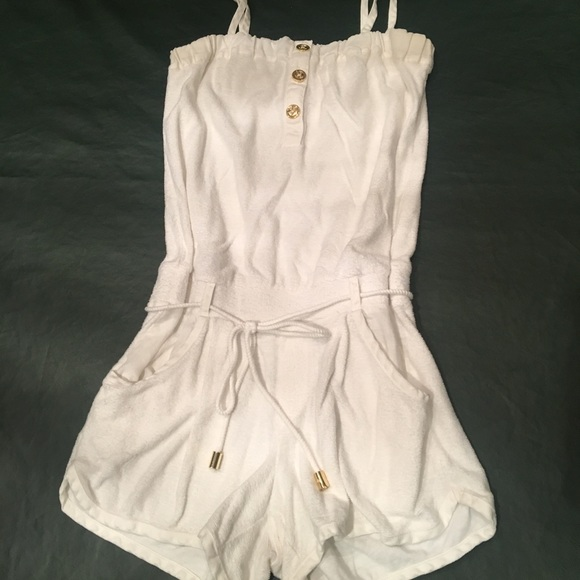 2ebea4de1ca Juicy Couture Dresses   Skirts - Juicy Couture White Terry Romper